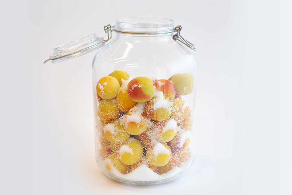 果実酒瓶で作る梅干作りの材料