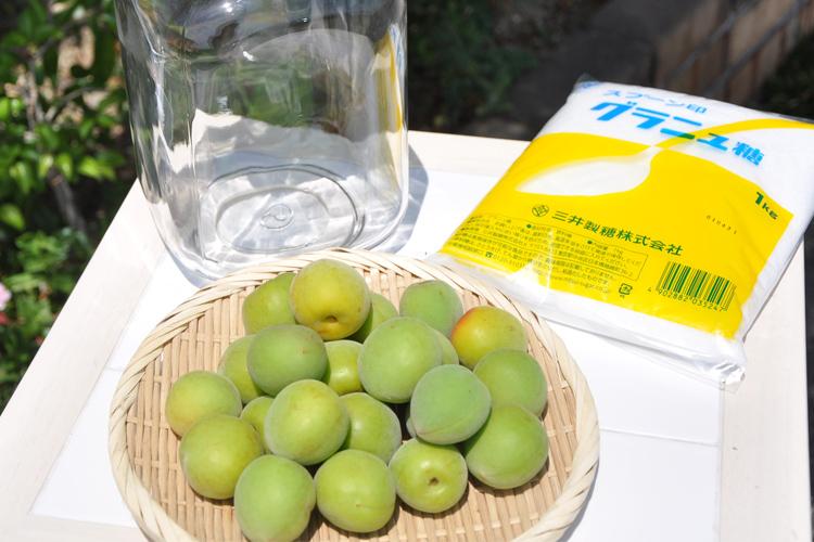 梅シロップ(梅ジュース)作りの材料